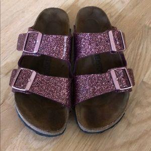 Pink sparkly Birkenstock's